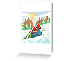 Winter Sports: Bobsleigh Greeting Card