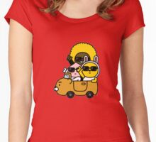 KakaoTalk Friends Hello! Ryan (카카오톡 라이언) - They See Us Rollin' Women's Fitted Scoop T-Shirt