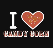 I Heart Candy Corn V2 ( Black Text Clothing ) T-Shirt