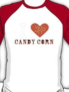 I Heart Candy Corn V2 ( Black Text Clothing ) T-Shirt