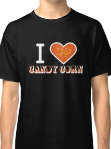 I Heart Candy Corn V2 ( Black Text Clothing ) Classic T-Shirt