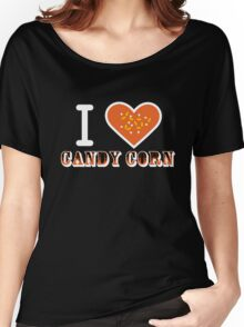 I Heart Candy Corn V2 ( Black Text Clothing ) Women's Relaxed Fit T-Shirt