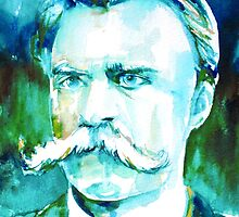 NIETZSCHE watercolor portrait.1 by lautir