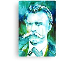 NIETZSCHE watercolor portrait.1 Canvas Print