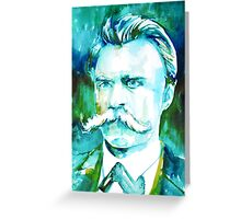 NIETZSCHE watercolor portrait.1 Greeting Card