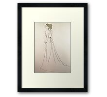 Wedding Dress No 4 Framed Print