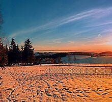 Colorful winter wonderland sundown IV | landscape photography by Patrick Jobst