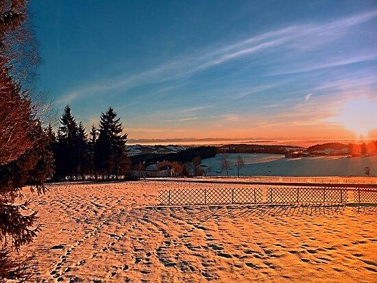 Colorful winter wonderland sundown IV   landscape photography by Patrick Jobst