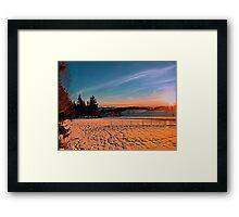 Colorful winter wonderland sundown IV | landscape photography Framed Print
