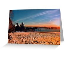 Colorful winter wonderland sundown IV | landscape photography Greeting Card