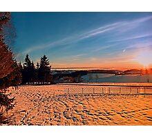 Colorful winter wonderland sundown IV | landscape photography Photographic Print