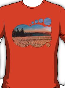 Colorful winter wonderland sundown IV | landscape photography T-Shirt