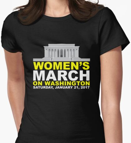 Women's March on Washington Womens Fitted T-Shirt