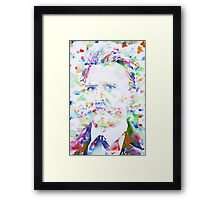 NIETZSCHE - watercolor portrait.2 Framed Print