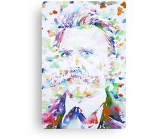 NIETZSCHE - watercolor portrait.2 Canvas Print