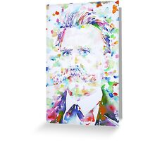 NIETZSCHE - watercolor portrait.2 Greeting Card