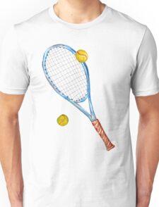 Tennis racket with tennis balls_3 Unisex T-Shirt
