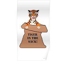 Orange 'Tiger in the Sack!' Poster