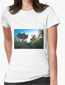a small temple down town liverpool Womens Fitted T-Shirt