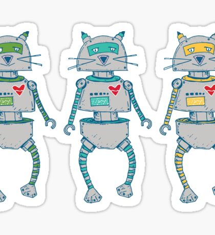 The Cat-Bot Trio Sticker