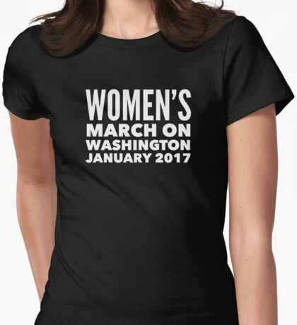 Women's March on Washington 2017 Womens Fitted T-Shirt