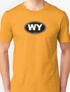 Wyoming WI Euro Oval  T-Shirt