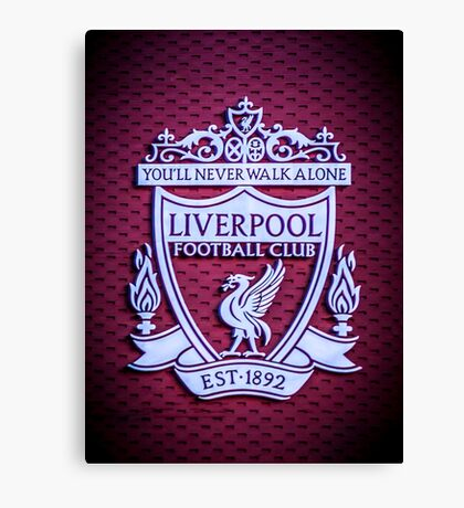 Liverpool Main Stand Crest Canvas Print