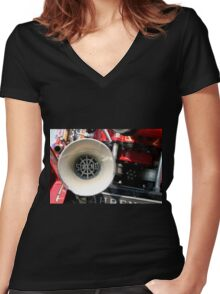 Old Fire Truck Women's Fitted V-Neck T-Shirt