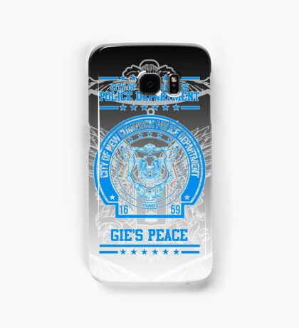 """NCPD """"Gie's Peace"""" Motto Black/Blue Samsung Galaxy Case/Skin"""