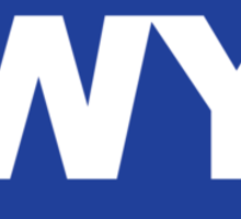 Wyoming WI Euro Oval BLUE Sticker