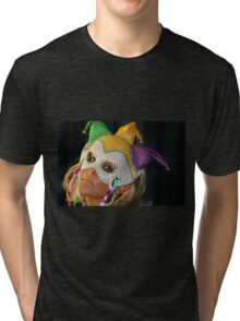Blond Woman with Mask Tri-blend T-Shirt