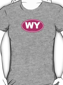 Wyoming WI Euro Oval PINK T-Shirt