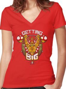 Getting Big Women's Fitted V-Neck T-Shirt