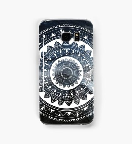 Gentle with my words blue and white hand drawn mandala Samsung Galaxy Case/Skin