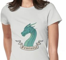 FEMINIST - Dark Dragon Womens Fitted T-Shirt