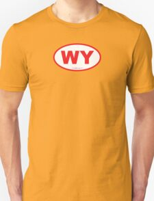 Wyoming WI Euro Oval RED T-Shirt