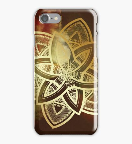 Namaste golden mandala iPhone Case/Skin