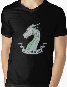 FEMINIST - Light Dragon Mens V-Neck T-Shirt