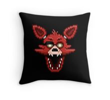 Five Nights at Freddy's 1 - Pixel art - Foxy Throw Pillow