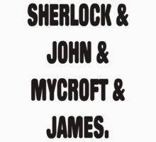Sherlock, John, Mycroft, James Kids Clothes
