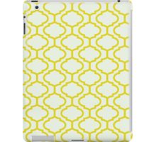 Mughal lattice bright yellow pattern iPad Case/Skin