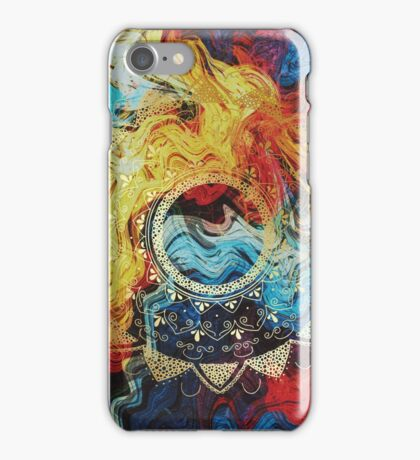 Sirasana golden mandala iPhone Case/Skin