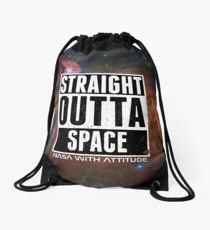 Straight Outta Space distressed Drawstring Bag