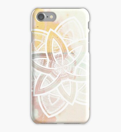 Light and love pink and white hand drawn mandala iPhone Case/Skin