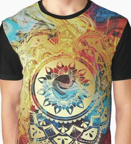 Honors golden mandala Graphic T-Shirt