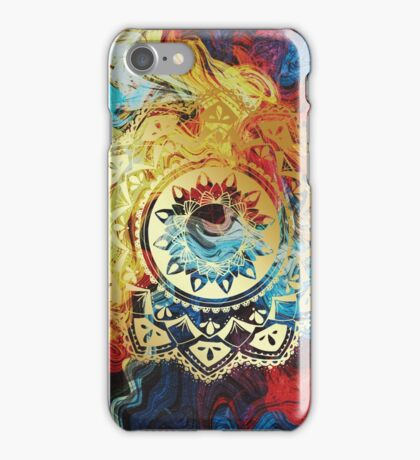 Honors golden mandala iPhone Case/Skin