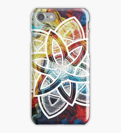 Sharing white mandala iPhone Case/Skin