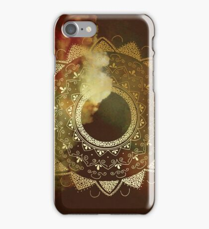 Wothy of all golden mandala iPhone Case/Skin