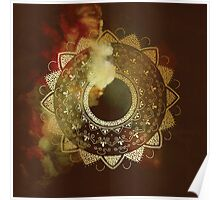 Wothy of all golden mandala Poster