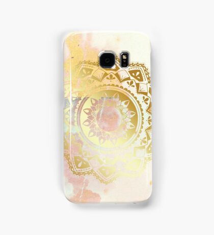 Grounded pink and white hand drawn mandala Samsung Galaxy Case/Skin